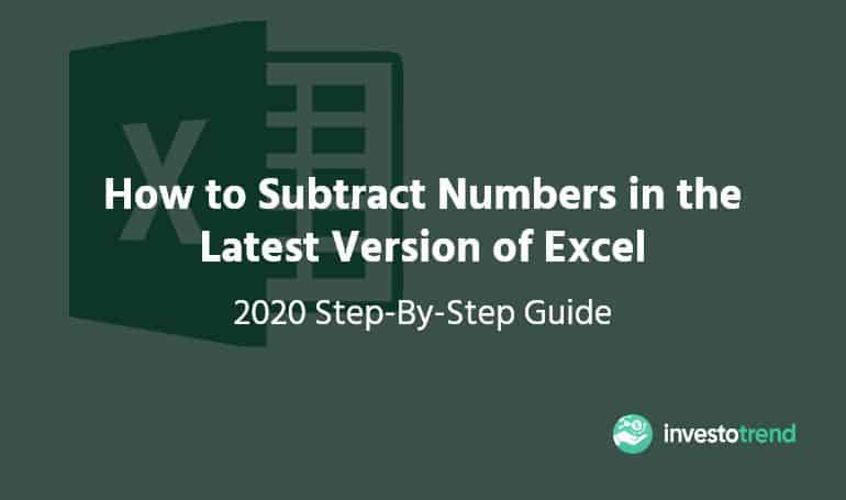 how to subtract in excel