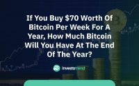 If you buy $70 worth of Bitcoin per week for a year, how much Bitcoin will you have at the end of the year?